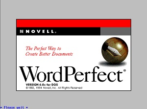 Picture of WordPerfect 6